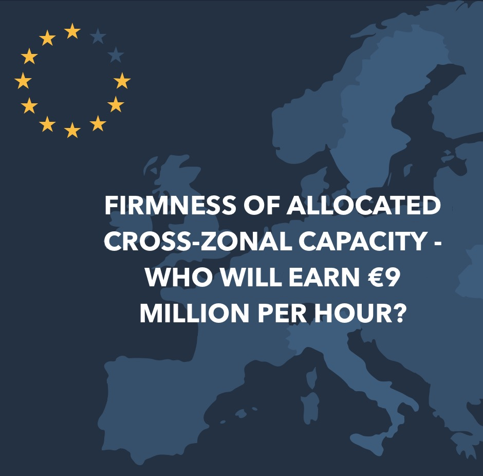 Firmness of allocated cross-zonal capacity - who will earn 9 million per hour