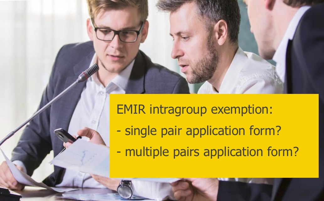 Emir intragroup exemption multiple pairs